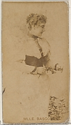 Mlle. Basco, from the Actors and Actresses series (N45, Type 8) for Virginia Brights Cigarettes
