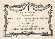 Title page, from Varj Carpiccj