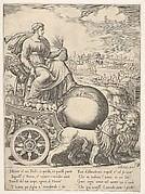 Cybele in her chariot drawn by two lions