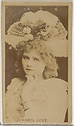 Mabel Love, from the Actors and Actresses series (N45, Type 8) for Virginia Brights Cigarettes