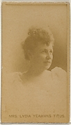Mrs. Lydia Yeamans Titus, from the Actors and Actresses series (N45, Type 8) for Virginia Brights Cigarettes