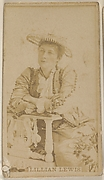 Lillian Lewis, from the Actors and Actresses series (N45, Type 8) for Virginia Brights Cigarettes