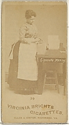 Card 39, from the series, Cigarette Making Girls (N46) for Virginia Brights Cigarettes