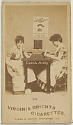 Card 30, from the series, Cigarette Making Girls (N46) for Virginia Brights Cigarettes