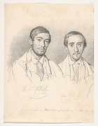 Double Portrait of the Artists E.F. Kloss and G. Pellicia