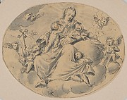 A Personification of Charity Seated on a Cloud, Surrounded by Putti