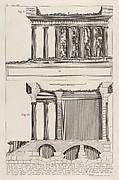 Profile of the Temple of Fortuna Virile (Profilo del Tempio della Fortuna Virile...), from Le Antichità Romane