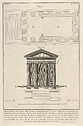Plan of the Temple of Fortuna Virile (Pianta del Tempio della Fortuna Virile...), from Le Antichità Romane