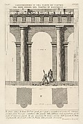 Part of the Porticoes in the First Order of the Theater of Marcellus (Dimostrazione di una parte de' portici del prim' ordine del Teatro di Marcello...), from Le Antichità Romane
