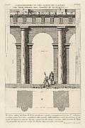 Part of the Porticoes in the First Order of the Theater of Marcellus (Dimostrazione di una parte de' portici del prim' ordine del Teatro di Marcello...), from Le Antichità Romane