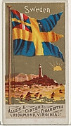Sweden, from Flags of All Nations, Series 1 (N9) for Allen & Ginter Cigarettes Brands