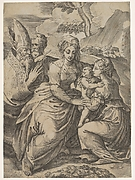 Madonna and Child with Saints (after Parmigianino)