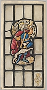 Hunter and Hound: Design for a Stained Glass Window (probably for the Belmont House, New York)