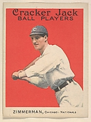 Zimmerman, Chicago, National League, from the Ball Players series (E145) for Cracker Jack
