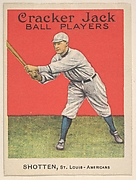 Shotten, St. Louis, American League, from the Ball Players series (E145) for Cracker Jack