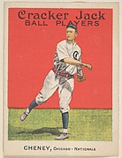 Cheney, Chicago, National League, from the Ball Players series (E145) for Cracker Jack