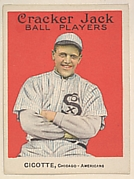 Cicotte, Chicago, American League, from the Ball Players series (E145) for Cracker Jack