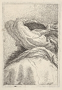 Man in a turban, depicted in bust length format from behind in three-quarters view, from the series 'Collection of heads' (Raccolta di teste)