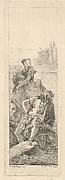 Man Seated with Woman and Child