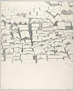"""Sketch for Lithograph """"Las Yaguas"""" 1956"""