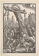 Raising of the Cross, from The Fall and Salvation of Mankind Through the Life and Passion of Christ