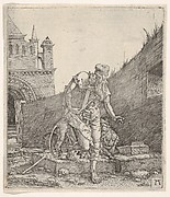 Saint Jerome Walking in a Churchyard