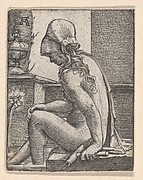 Seated Woman Bathing Her Feet