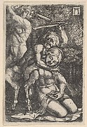 Two Satyrs Fighting Over a Nymph