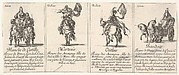 Blanche de Castille, Martesie, Orithie, and Baudour, from 'The game of queens' (Le jeu des Reines renommées)