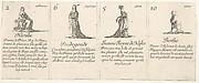 Hecube, Fredegonde, Ieanne Reyne de Naples, and Berthe, from 'The game of queens' (Le jeu des Reines renommées)