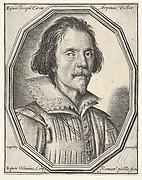 Giuseppe Cesare, called Cavaliere d'Arpino, a bust-length portrait in a twelve-sided frame