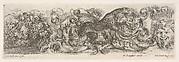 Design for a Frieze with Acanthus Scrolls and a Leopard in the Center, Plate 10 from: 'Decorative friezes and foliage' (Ornamenti di fregi e fogliami)