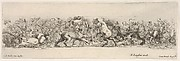 Design for a Frieze with Putti carrying a Vine and Three Felines, Plate 11 from: 'Decorative friezes and foliage' (Ornamenti di fregi e fogliami)