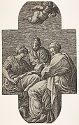 """Three Muses"" after Primaticcio"