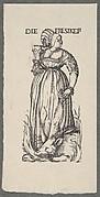 Gluttony (Die Fresikeit), from The Seven Vices, in Holzschnitte alter Meister gedruckt von den Originalstöcken der Sammlung Derschau im besitz des Staatlichen Kupferstich-kabinetts zu Berlin