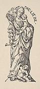 Charity (Die Liebe), from The Seven Virtues, in Holzschnitte alter Meister gedruckt von den Originalstöcken der Sammlung Derschau im besitz des Staatlichen Kupferstich-kabinetts zu Berlin