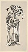 Temperance (Die Mesikait), from The Seven Virtues, in Holzschnitte alter Meister gedruckt von den Originalstöcken der Sammlung Derschau im besitz des Staatlichen Kupferstich-kabinetts zu Berlin