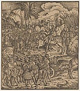 Encounter of Two Generals Before Cleves, from Der Weisskunig