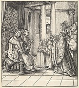 The White King Receiving His Daughter Margaret and the Children of King Philip, from Der Weisskunig