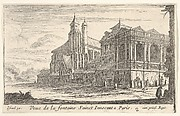 View of the Fountain of the Innocents, Paris, with the Church of the Holy Innocents beyond