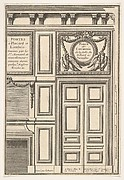 Door and Chimney of the Billiards room at Versailles, plate I from the Series 'Portes a Placard et Lambris', published as part of 'L'Architecture à la Mode'