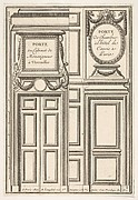 Two Designs for Doors, one at Versailles and one at the Hotel Cavois in Paris, plate II from the Series 'Portes a Placard et Lambris', published as part of 'L'Architecture à la Mode'