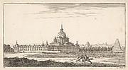 View of a Town, plate X from Livre de paysages dédié à Monsieur de Beringhen