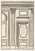 Closet Door and piece of Wainscot from the restored Trianon Salon (Porte à Placard et morceau de Lambris de revestement du Salon de Trianon), plate IV from L'Architecture à la Mode