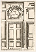 Doors of the Trianon Appartments (Portes des Appartements de Trianon), plate III from L'Architecture à la Mode