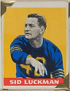 Sid Luckman, from the All-Star Football series (R401-2), issued by Leaf Gum Company
