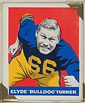 "Clyde ""Bulldog"" Turner, from the All-Star Football series (R401-2), issued by Leaf Gum Company"