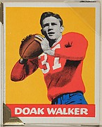 Doak Walker, from the All-Star Football series (R401-2), issued by Leaf Gum Company