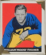 "William ""Moose"" Fischer, from the All-Star Football series (R401-2), issued by Leaf Gum Company"