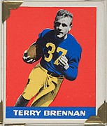 Terry Brennan, from the All-Star Football series (R401-2), issued by Leaf Gum Company